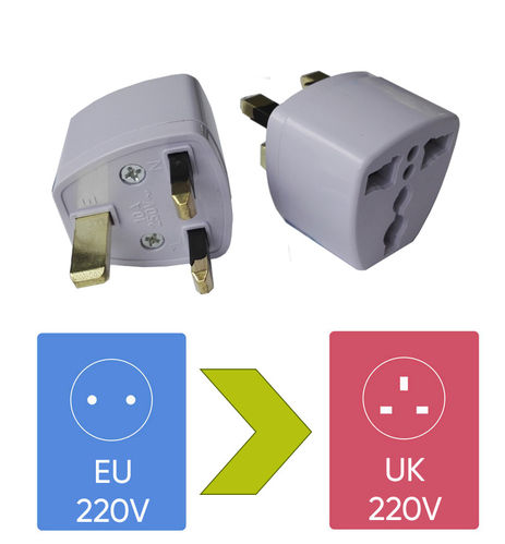 Plug Adapter EU to UK