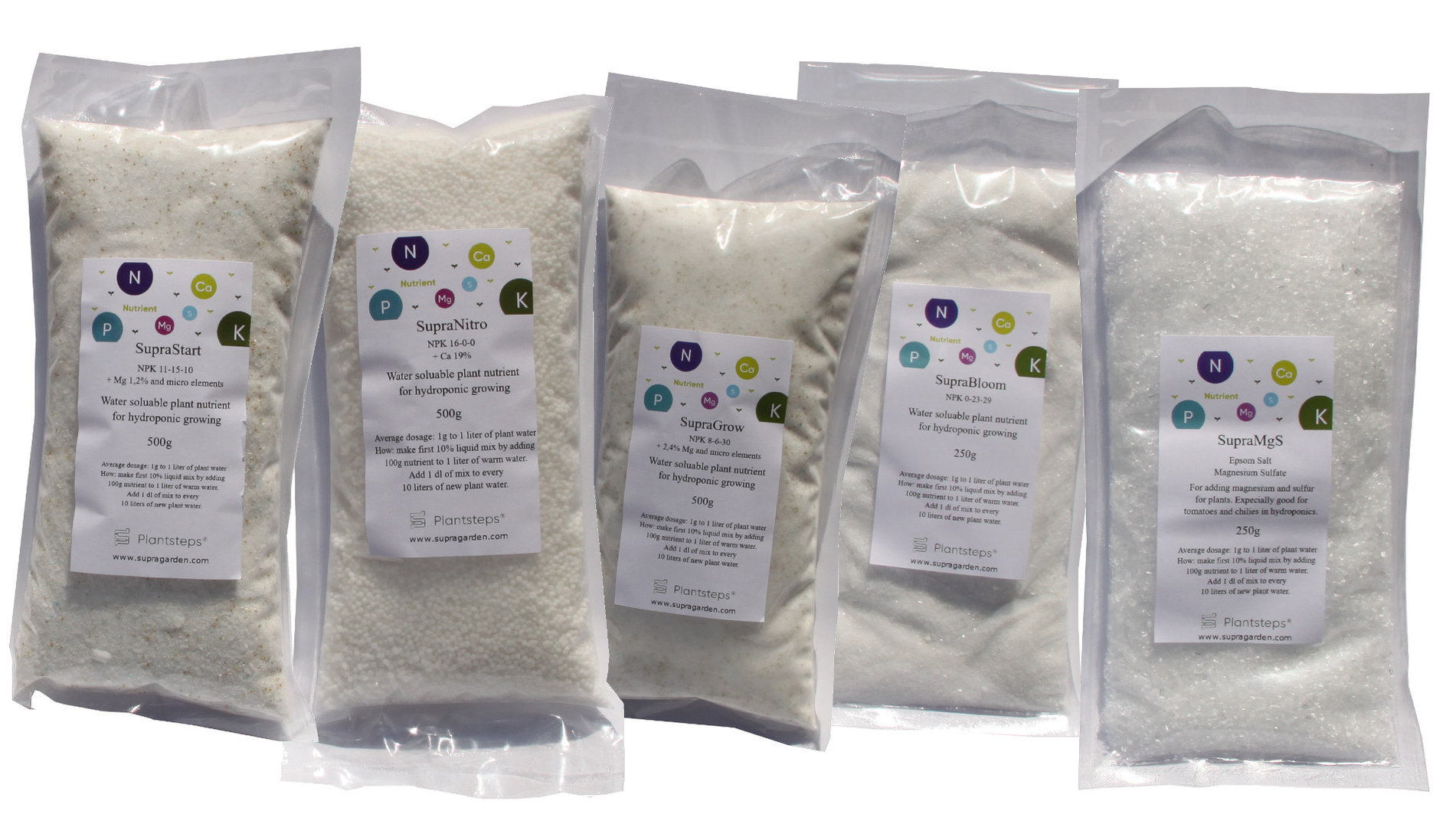 Nutrient Kit for hydroponic food garden