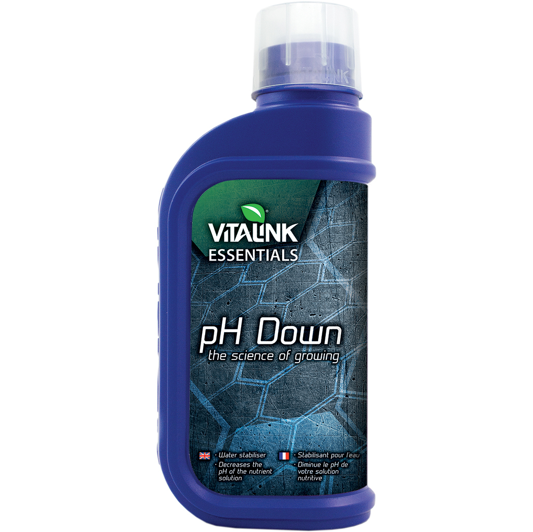 VitaLink pH Down, pH- to lower pH value of nutrient water