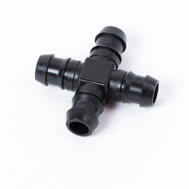 Barb Cross 13 mm, Plastic X connector