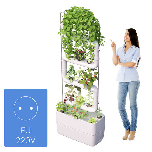 Supragarden® Green Wall with 4 white Plantsteps for EU