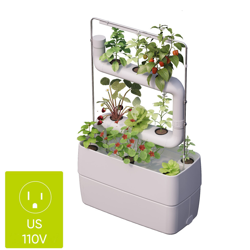 Indoor garden with 2 Plantsteps® | US, Canada and Japan plug