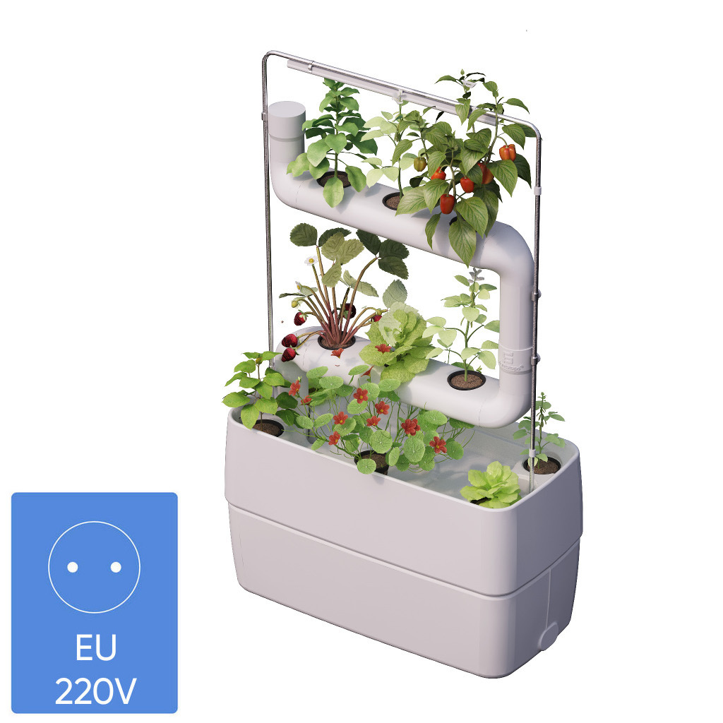 Hydroponic indoor garden system with 2 Plantsteps® | EU white