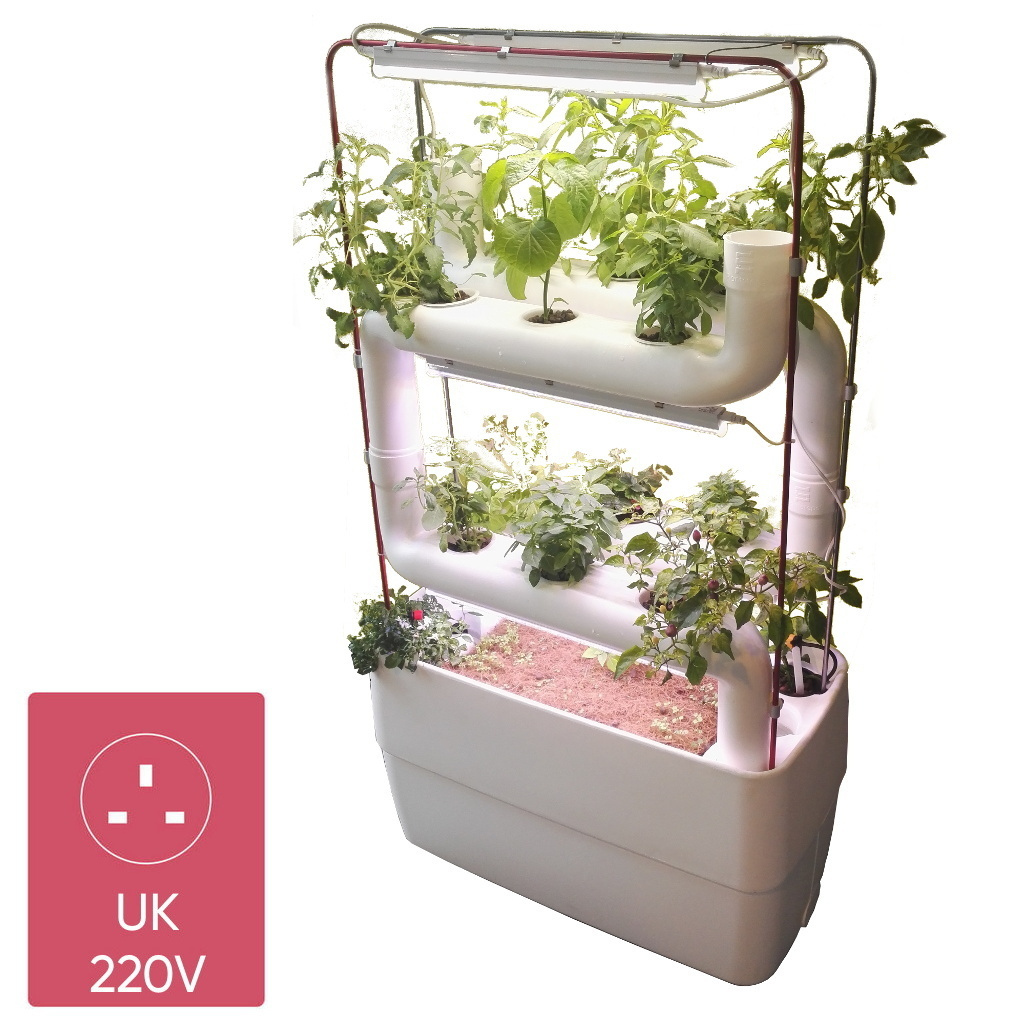 Supragarden hydroponic system with 2+2  Plantsteps | UK white